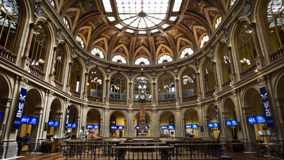 Börse in Madrid: Bankensystem unter Druck
