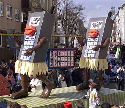 """""""Voodoo Fone"""": Die lange Übernahmeschlacht von Vodafone um Mannesmann wurde sogar zu einem Thema beim Mainzer Karneval"""