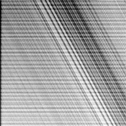 Feinste Details: Trotz Streifen ist die Ringstruktur sehr gut zu erkennen