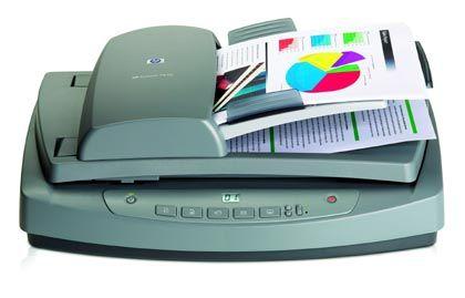 Ideal für große Aktenmengen: Der Scanjet 7650 von Hewlett-Packard mit automatischem Blatteinzug