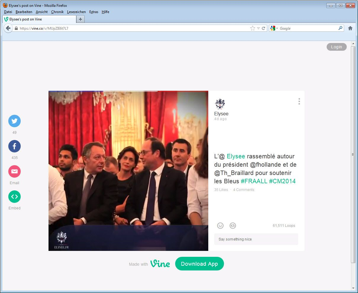 SCREENSHOT Hollande WM; twitter