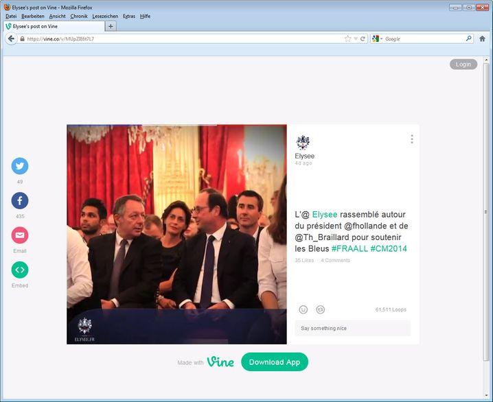 François Hollande: Schwätzchen mit dem Nebenmann