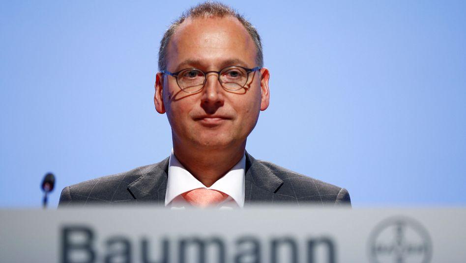 """Bayer-Chef Werner Baumann: """"Natürlich haben wir die geistigen Eigentumsrechte an unseren Innovationen im Blick. Bayer setzt diese aber nicht gegenüber Kleinbauern durch"""""""
