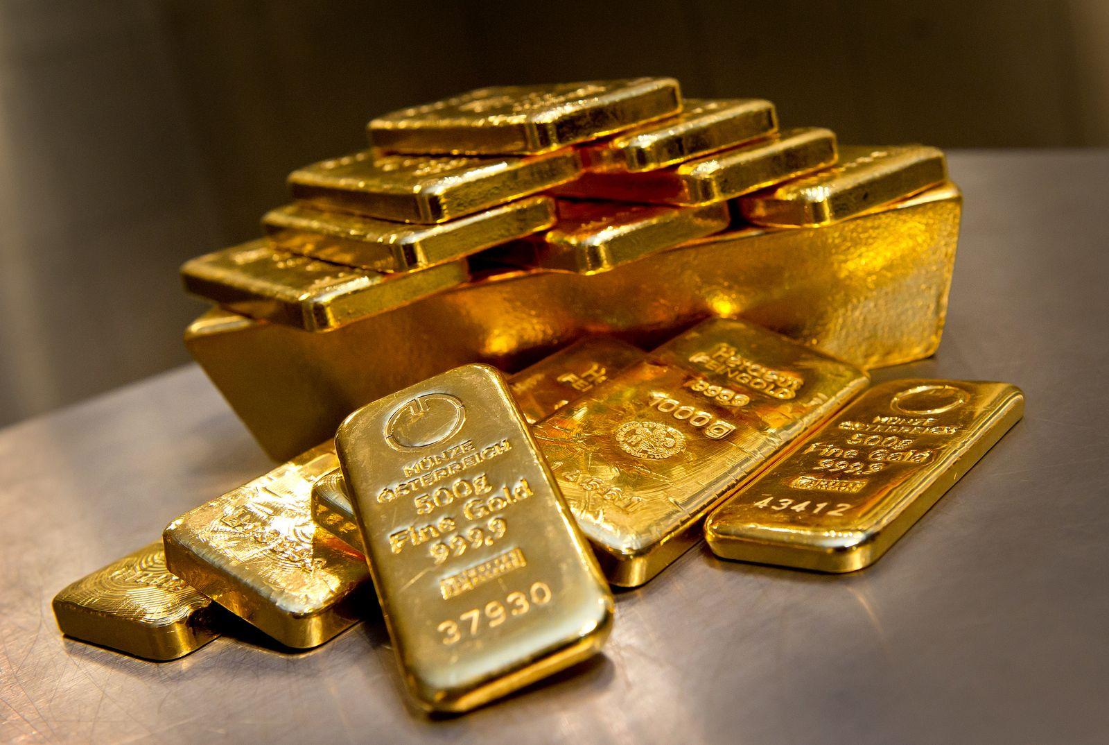 Gold-Barren / Goldpreis / Goldbarren (Kopie)