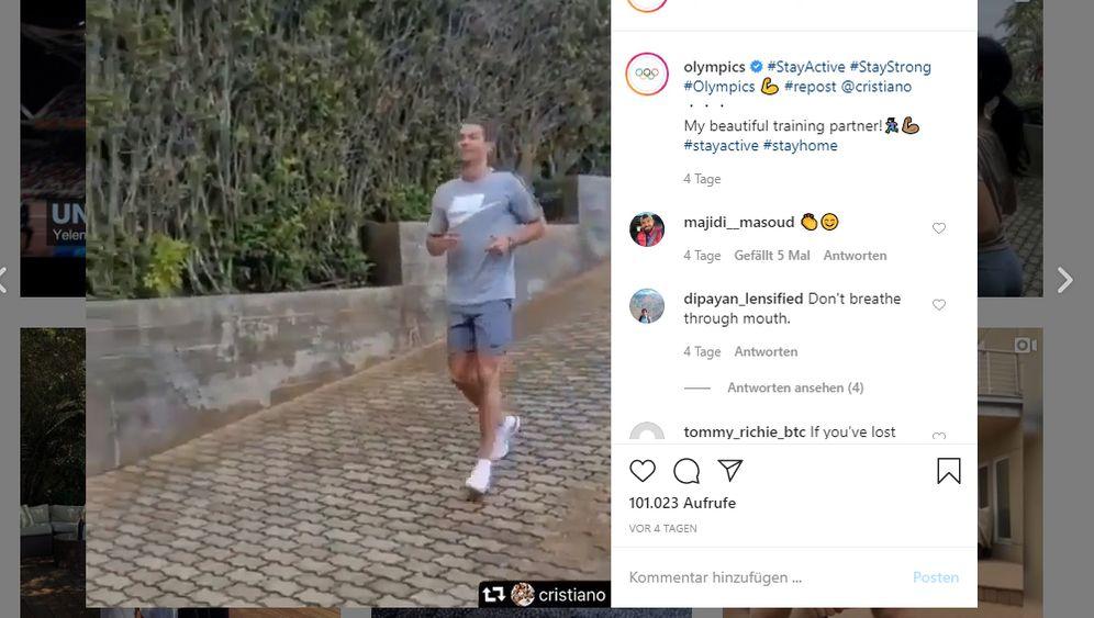 Profi-Sportler im Corona-Modus: Wie Frodeno, Ronaldo und Co. sich auf Instagram inzenieren