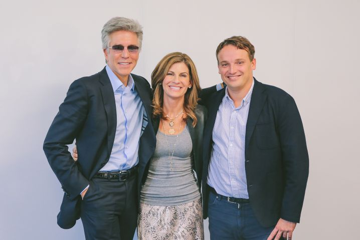 Ex-SAP-Chef Bill McDermott (l.) mit den neuen Chefs: Jennifer Morgan und Christian Klein