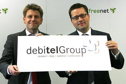 Konnten sich offensichtlich nicht einig werden: Debitel-Chef Steil (l.) und Freenet-Chef Spoerr