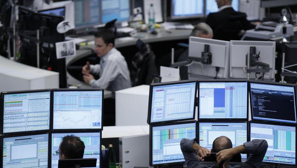 Händler in Frankfurt: Die Unsicherheit ist aus den Märkten gewichen - zumindest vorübergehend