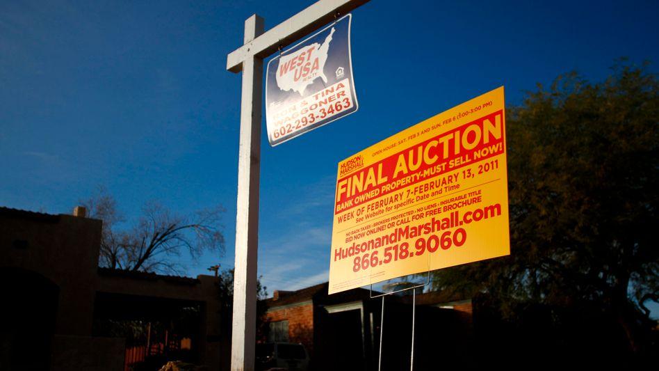 Immobilienkrise in den USA: Bei vielen Pfändungen soll angesichts der schieren Masse nicht einmal mehr ein Sachbearbeiter drübergeschaut haben