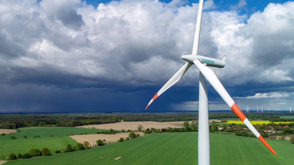 Frischer Wind aus der Hauptstadt: Windrad von Siemens.