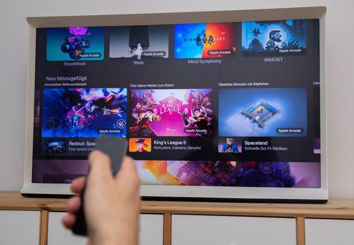 Spielen an der Apple-TV-Box: Apple Arcade läuft auf (fast) allen Geräten des Apfel-Konzerns