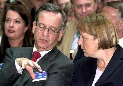 von Pierer, Merkel: Der Wirtschaftsberater der Union erlebt als Aufsichtsratschef von Siemens raue Zeiten