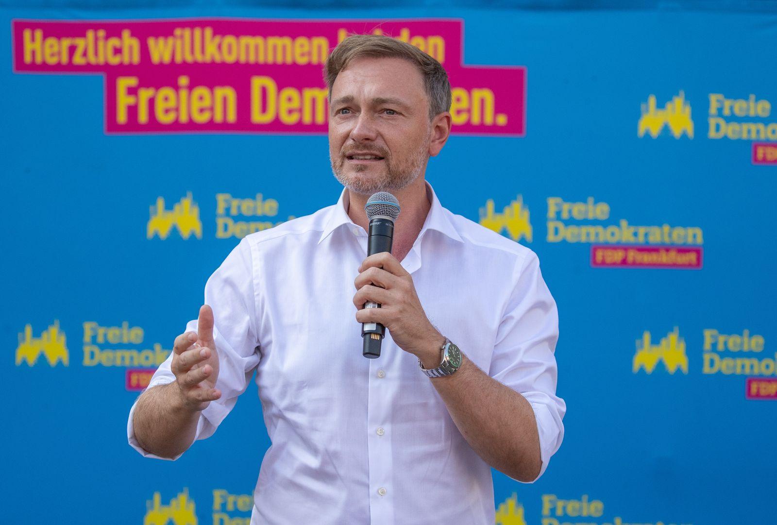 FDP campaigns in Frankfurt