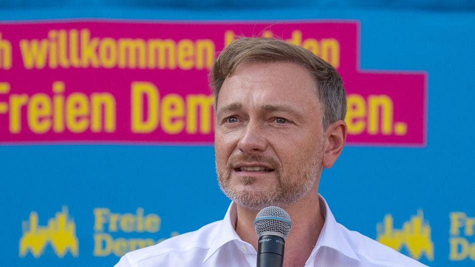 Neue Töne: FDP-Chef Christian Lindner im Wahlkampf