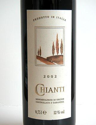 Fünftschlechtester Wein im Test mit 0,80 g/l Essigsäure - von Aldi Süd: 2002 Chianti DOCG, imbottigliato da GEPIS, Castellina in Chianti. Gekauft am 27.12.2004 in 76131 Karlsruhe für 1,99 Euro. Lot-Nummer:Lot 4-322.