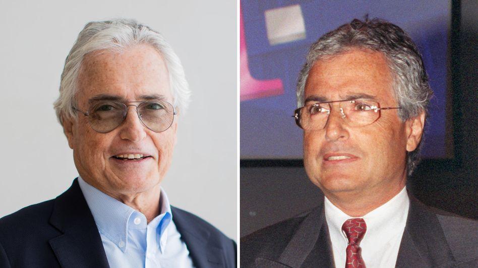 Ron Sommer im Sommer 2019 (links) und bei einer Bilanz-Pressekonferenz der Telekom im Jahr 1999