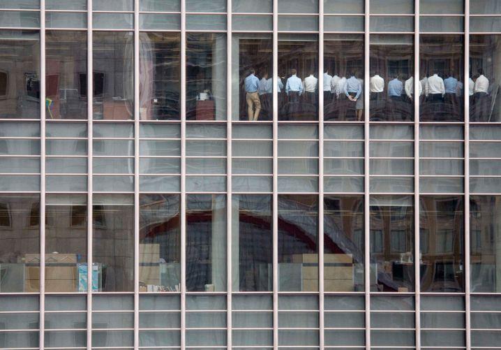 Mit dem Rücken zur Wand: Konferenz in der Londoner Lehman-Filiale im September 2008