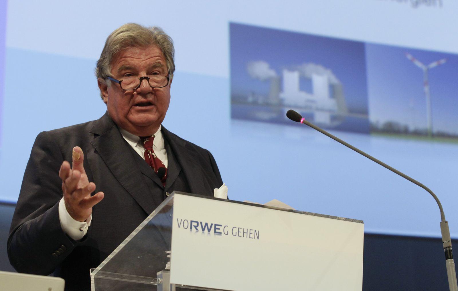 Jürgen Großmann auf seiner letzten Hauptversammlung als RWE-Chef