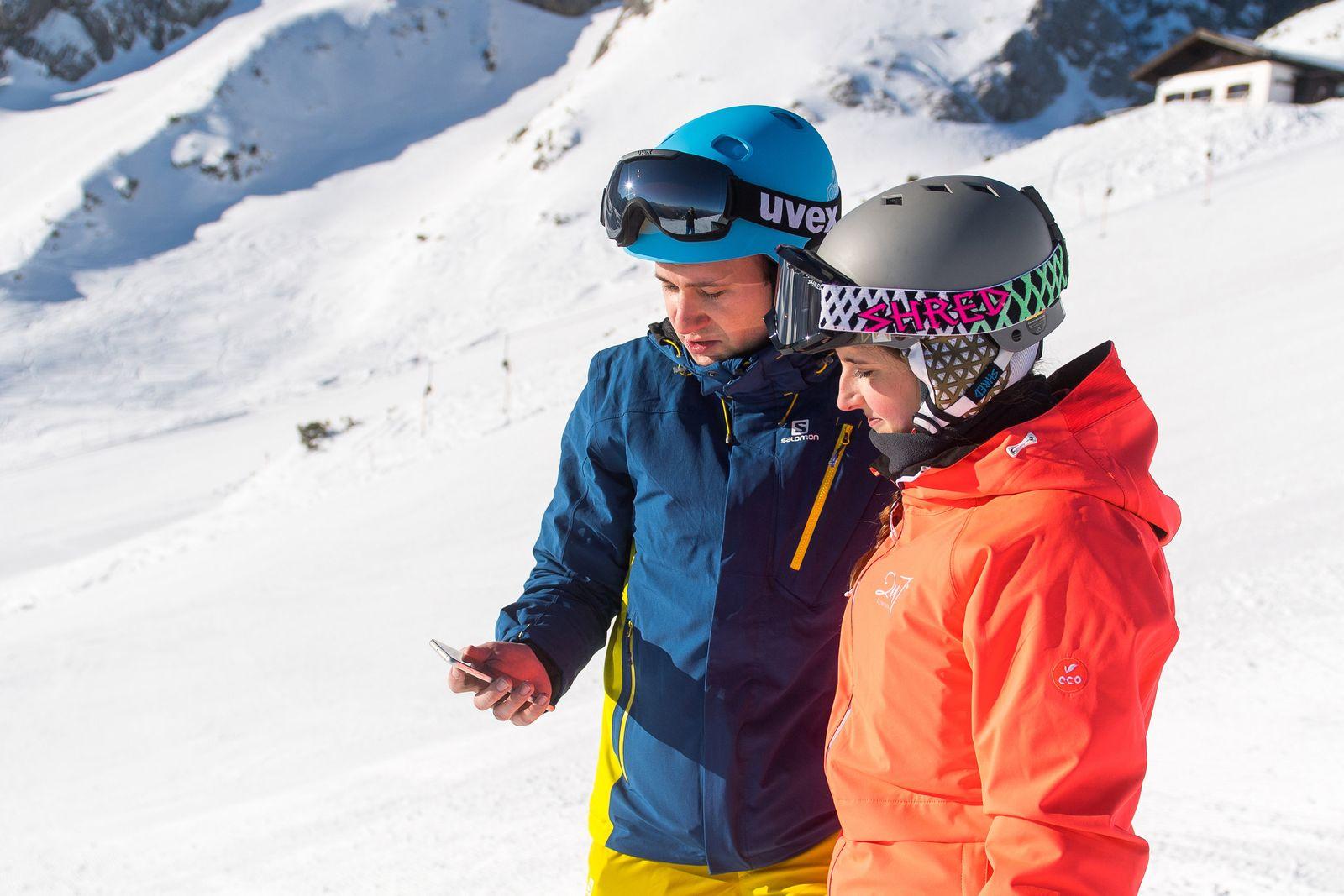 EINMALIGE VERWENDUNG Tracking, Pisten, Lawinen: Diese Apps brauchen Wintersportler