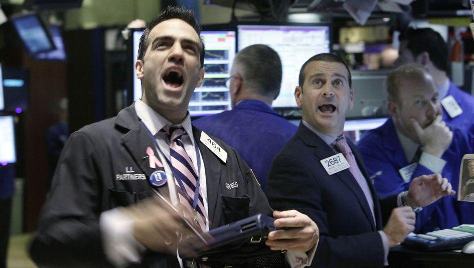 Händler in New York: Warten auf den nächsten Rekord - und niemand will den Zug verpassen