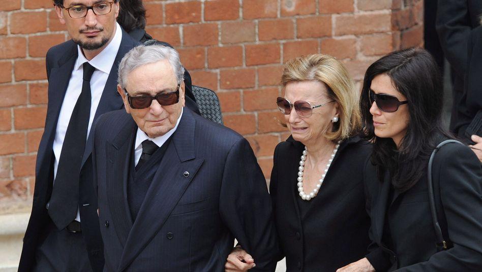 Michele Ferrero bei der Beerdigung seines Sohnes Pietro im Jahr 2011