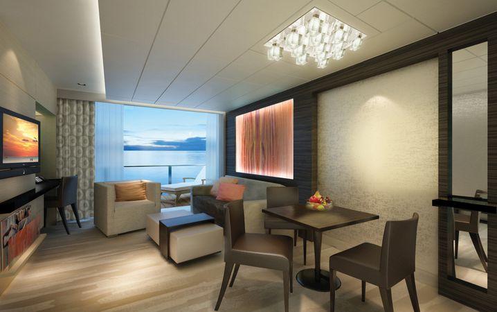 """Platz für 4248 Passagiere: Besonders luxuriös lässt es sich auf der """"Norwegian Escape"""" in der Family Villa verreisen."""