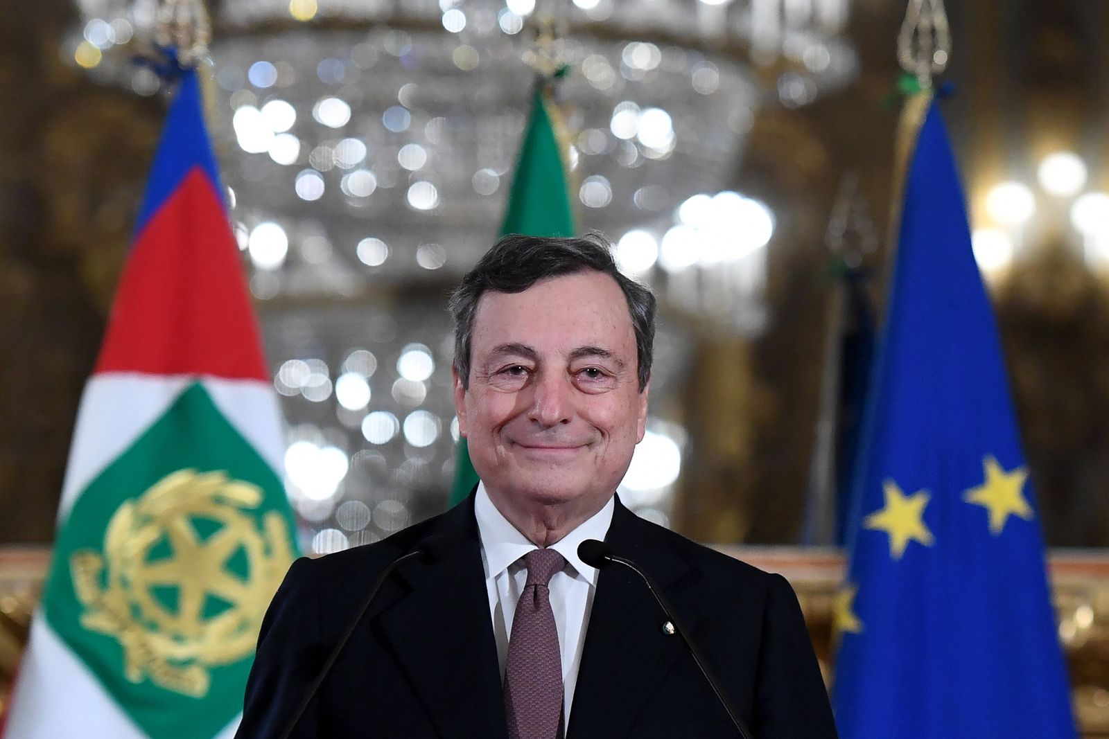 The Premier in charge Mario Draghi at the Quirinale to dissolve the reserve and to announce the list of Ministers. Rome(
