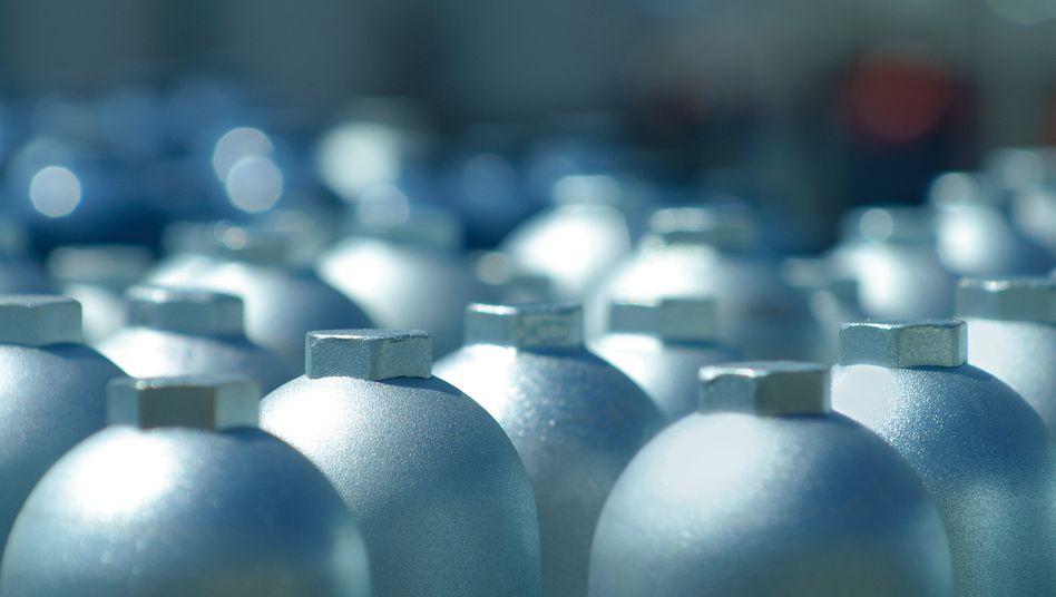 Gas-Zylinder von Linde: Unternehmen auf Wachstumskurs