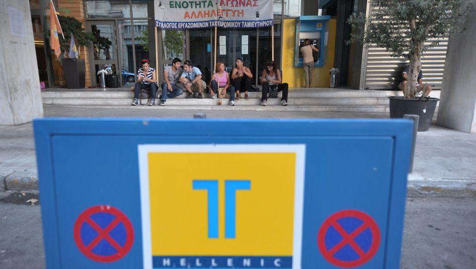 Kriseninstitut: Die Hellenic Post Bank wird verkauft.