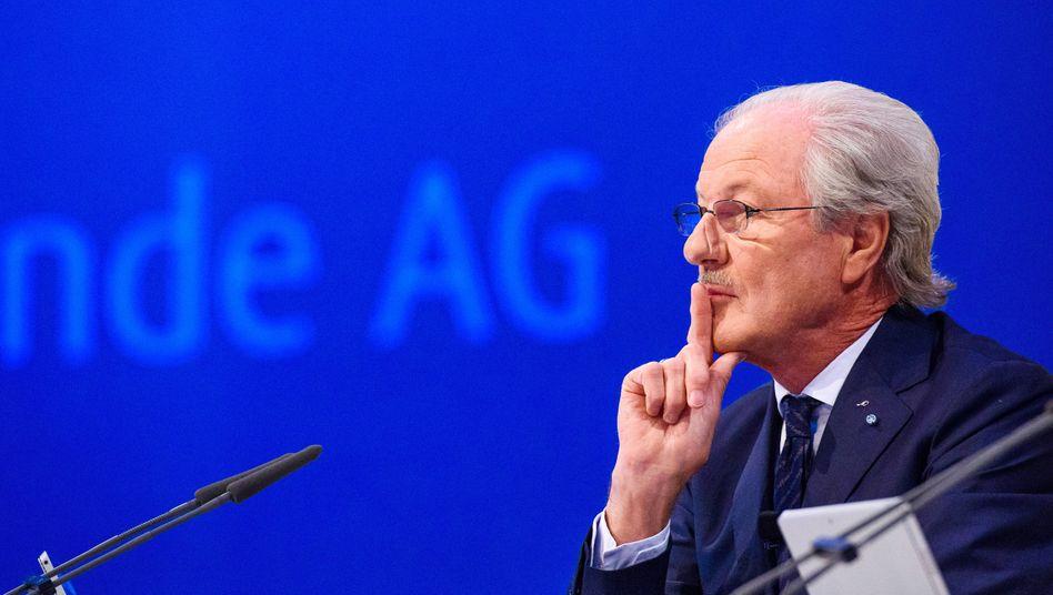 Seinem Ziel ein großes Stück näher: Linde-Aufsichtsratschef Wolfgang Reitzle, hier auf der Linde-Hauptversammlung im Mai in München.