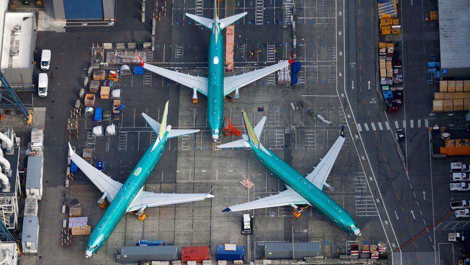 Am Boden: drei 737 Max in der Boeing-Fabrik in Renton/USA.