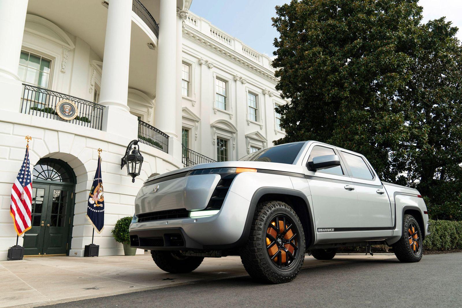 September 28, 2020, Washington, WA, United States of America: The Lordstown 2021 Endurance electric pickup truck display