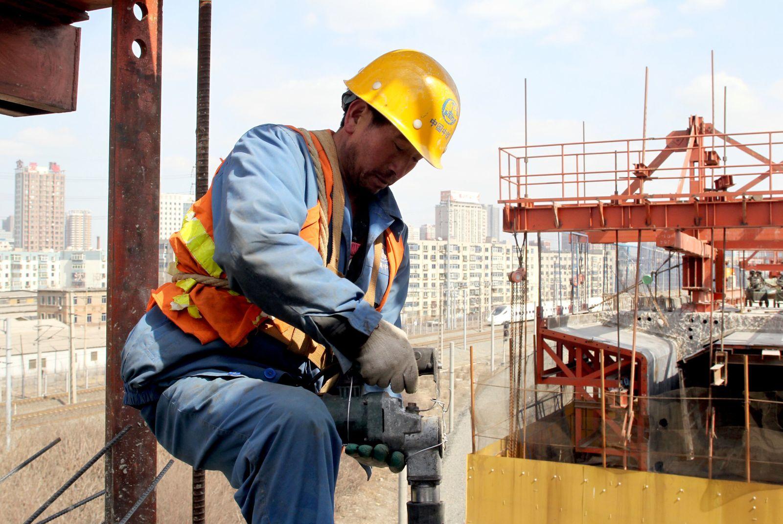 China / Dalian / Bauarbeiten