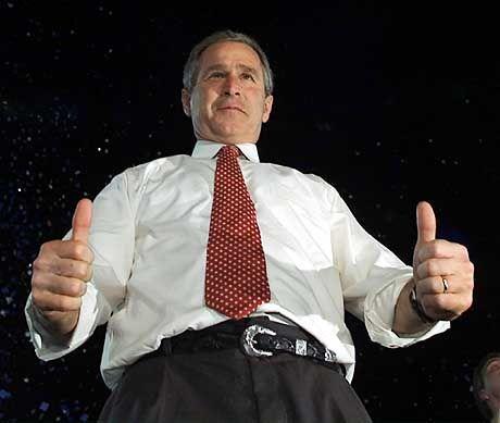 Siegesgewiss: George W. Bush