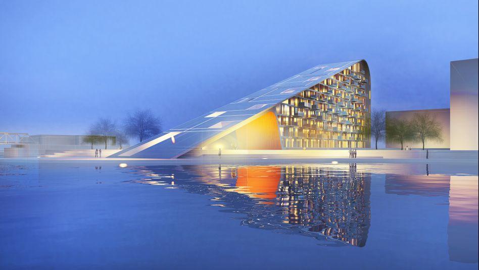 Solar-Haus in Dänemark (Entwurf): Kaltes Land als Sonnenenergie-Vorreiter