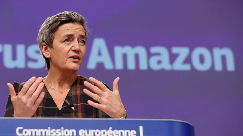 EU-Wettbewerbskommissarin Margrethe Vestager hat erneut Amazon im Visier