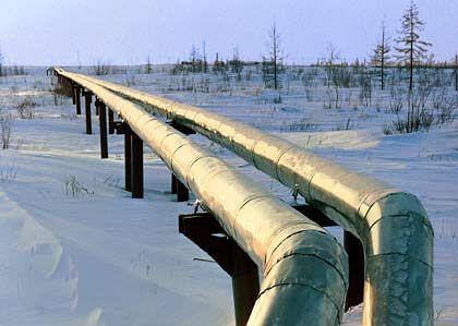 Kostbare Ressourcen: Gaspipeline in Russland