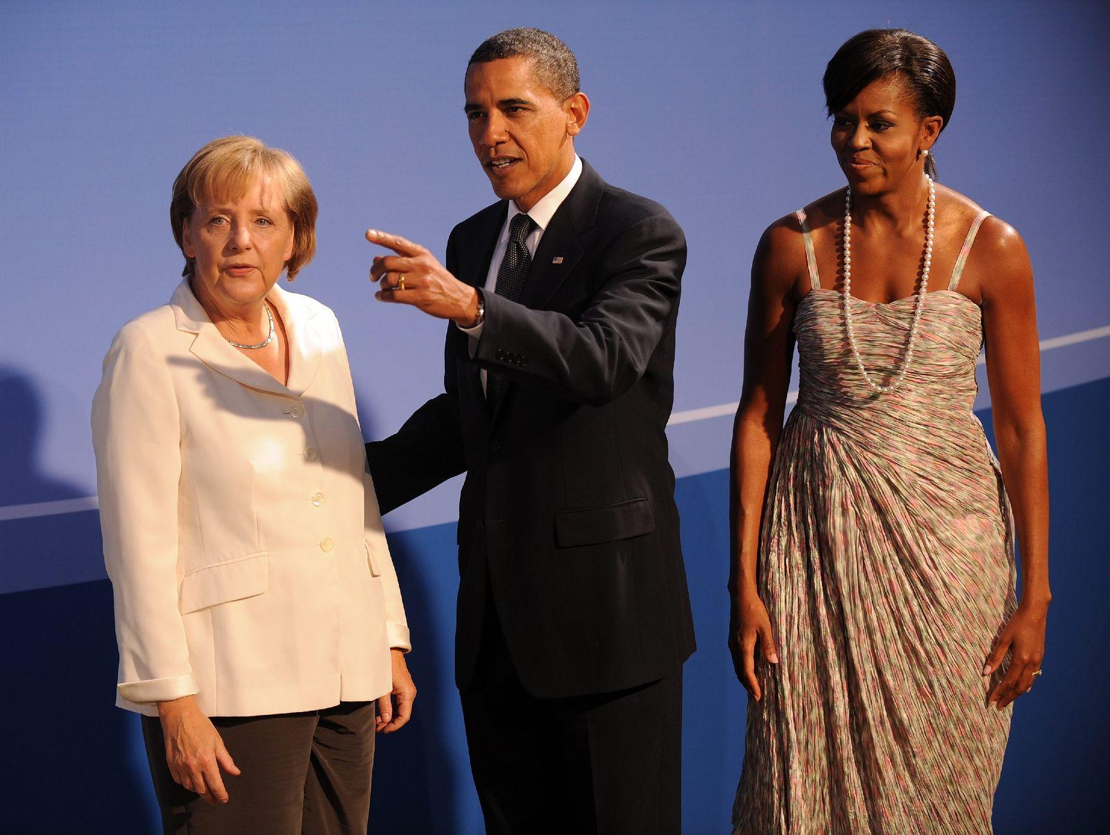 G20-Gipfel in Pittsburgh - Obama und Merkel