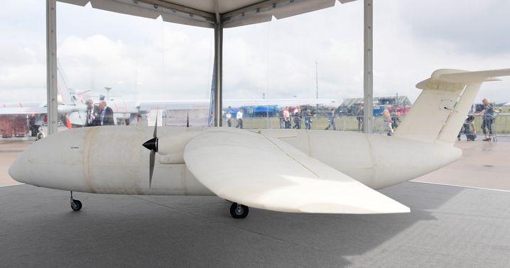 Sieht nicht gut aus, kann dafür aber auch keine Passagiere transportieren: Das Flugzeug Thor. Allerdings markiert es trotzdem einen technischen Meilenstein, denn es ist komplett im 3-D-Drucker gefertigt worden.
