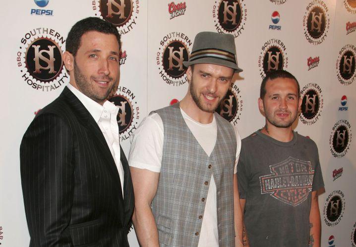 "Stolz bei der Eröffnung 2007: Eytan Sugarman (links), Justin Timberlake und Trace Alaya (rechts) im ""Southern Hospitality"""