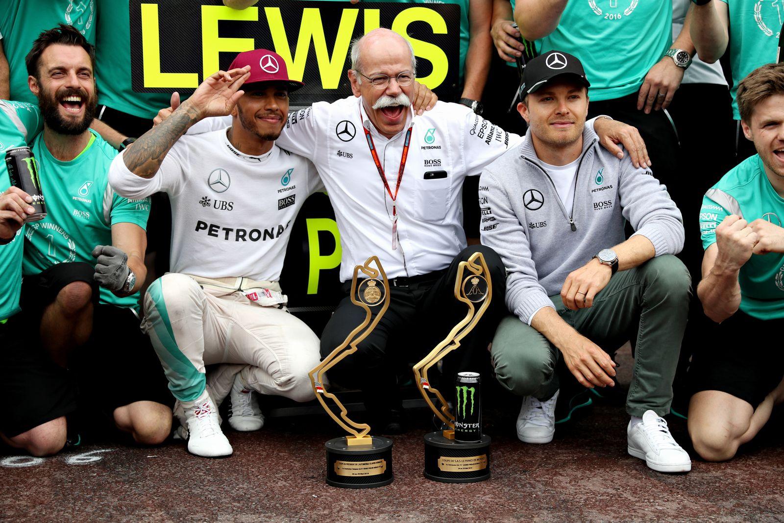 Mercedes Zetsche Hamilton Rosberg