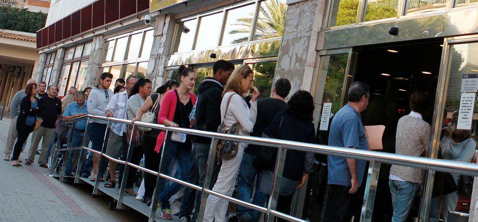 Arbeitslose auf Mallorca in Spanien: Schwierige Lage in vielen europäischen Staaten