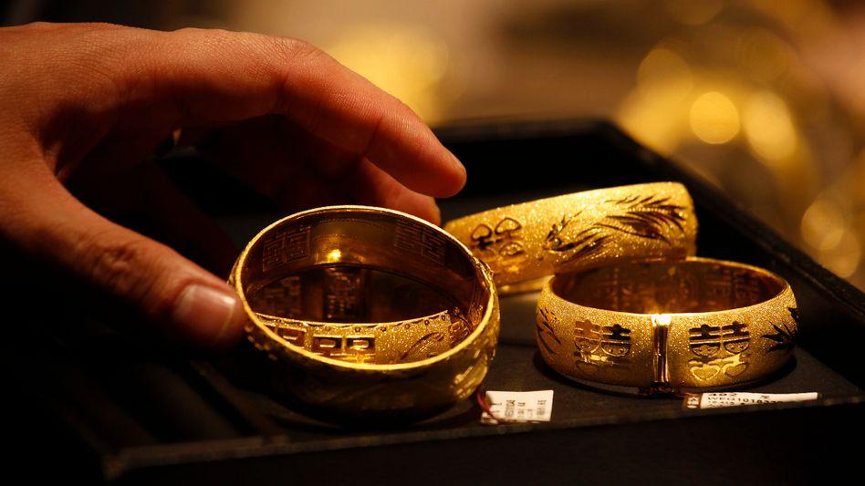 Gold: Das Edelmetall ist gefragt - allerdings derzeit eher als Schmuckstück als an der Börse