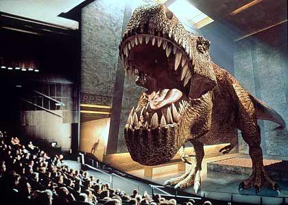 Dreidimensionaler Dino: Die Filmbranche diskutiert seit Jahren über Businessmodelle für 3D-Kinos