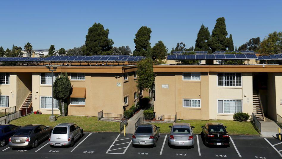Häuser mit Solaranlagen in Kalifornien