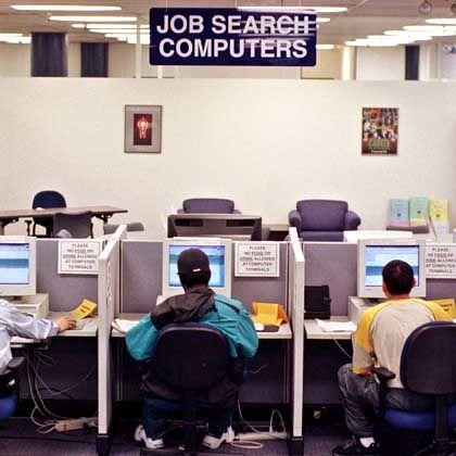 Jobcenter in den USA: Die Zahl der Beschäftigten ist gestiegen, die Arbeitslosenquote blieb unverändert