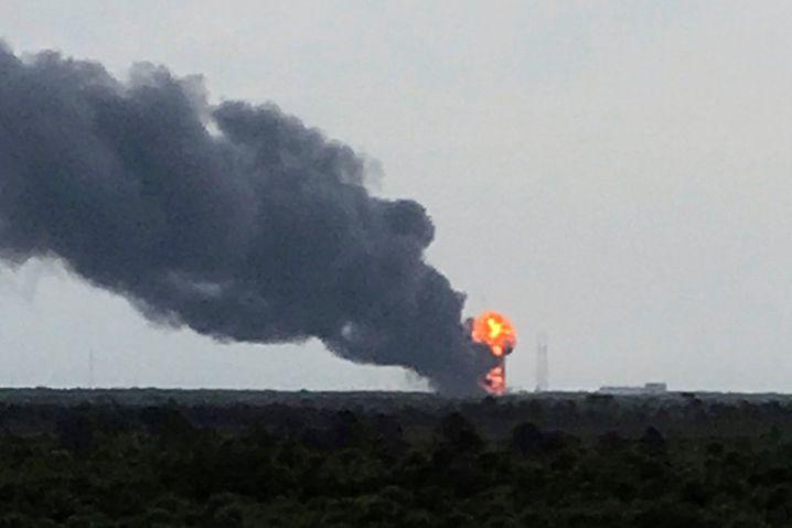 Explosionsort einer Falcon-9-Rakete in Cape Canavera: Auch bei Space X verläuft nicht immer alles wie geplant