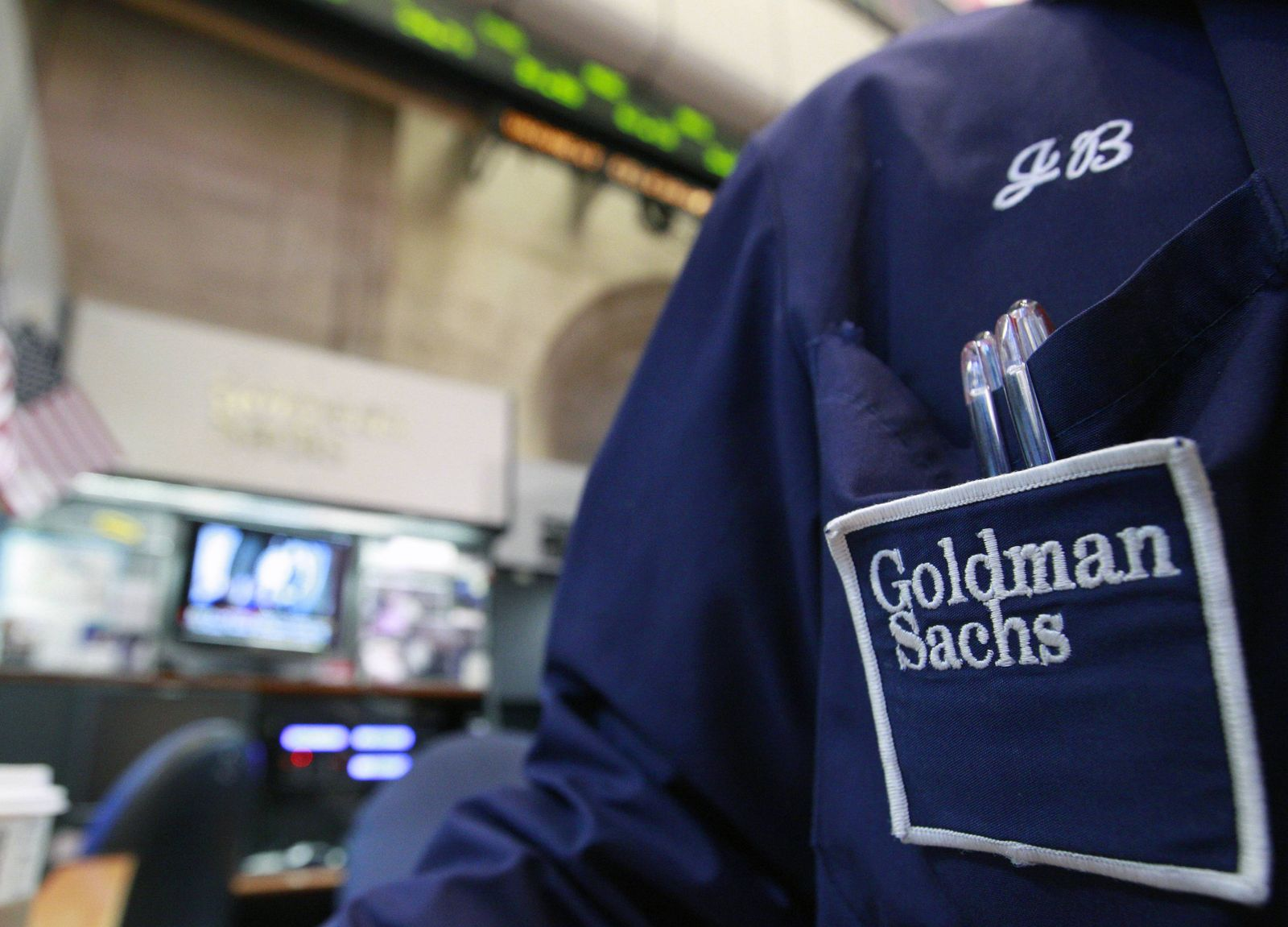 Goldman Sachs Händler New York Wall Street