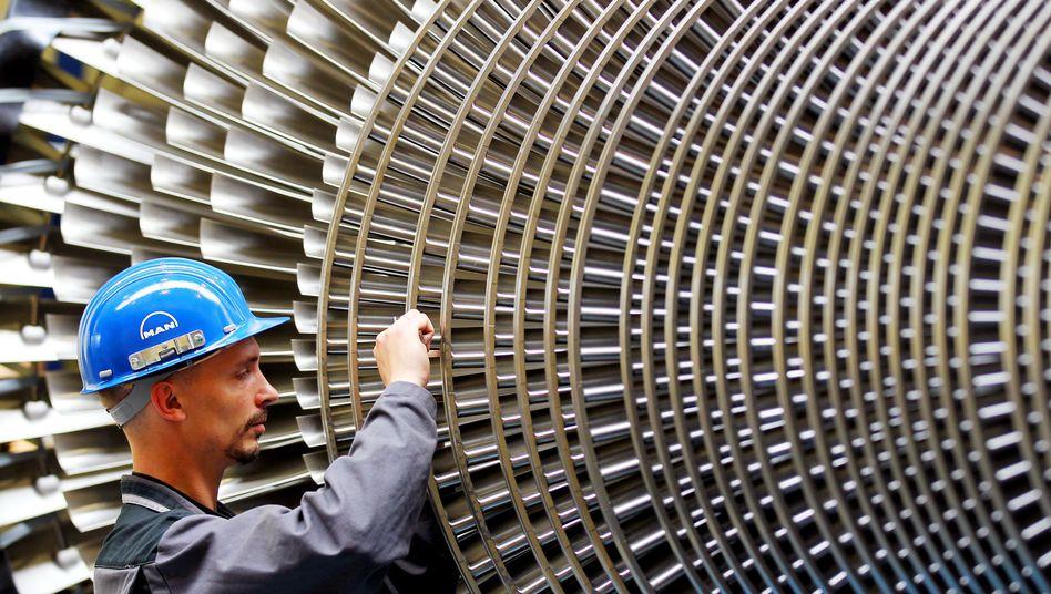 Turbinenherstellung bei MAN in Oberhausen: 2012 stieg die Zahl der sozialversicherungspflichtigen Jobs