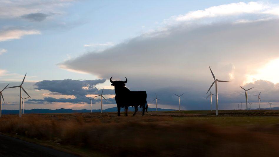 Windpark bei Saragossa: Spanien ist bei den erneuerbaren Energien führend